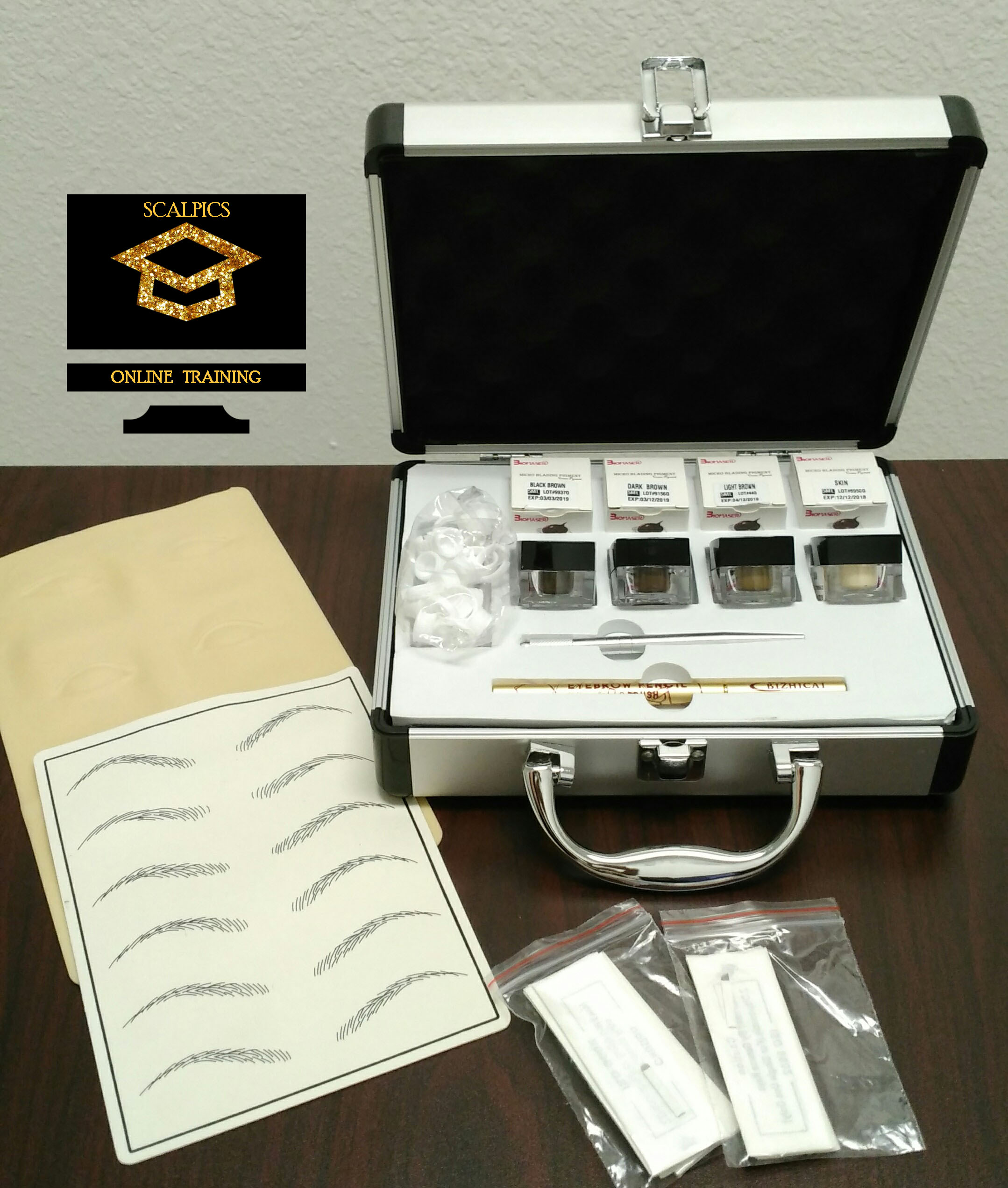 Professional Microblading Training Kit with Free Basic Online Certification